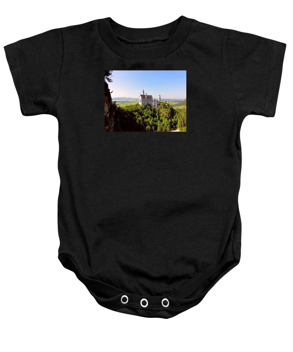 Scenic Baby Onesie featuring the photograph Neuschwanstein Castle by Bruce Thompson