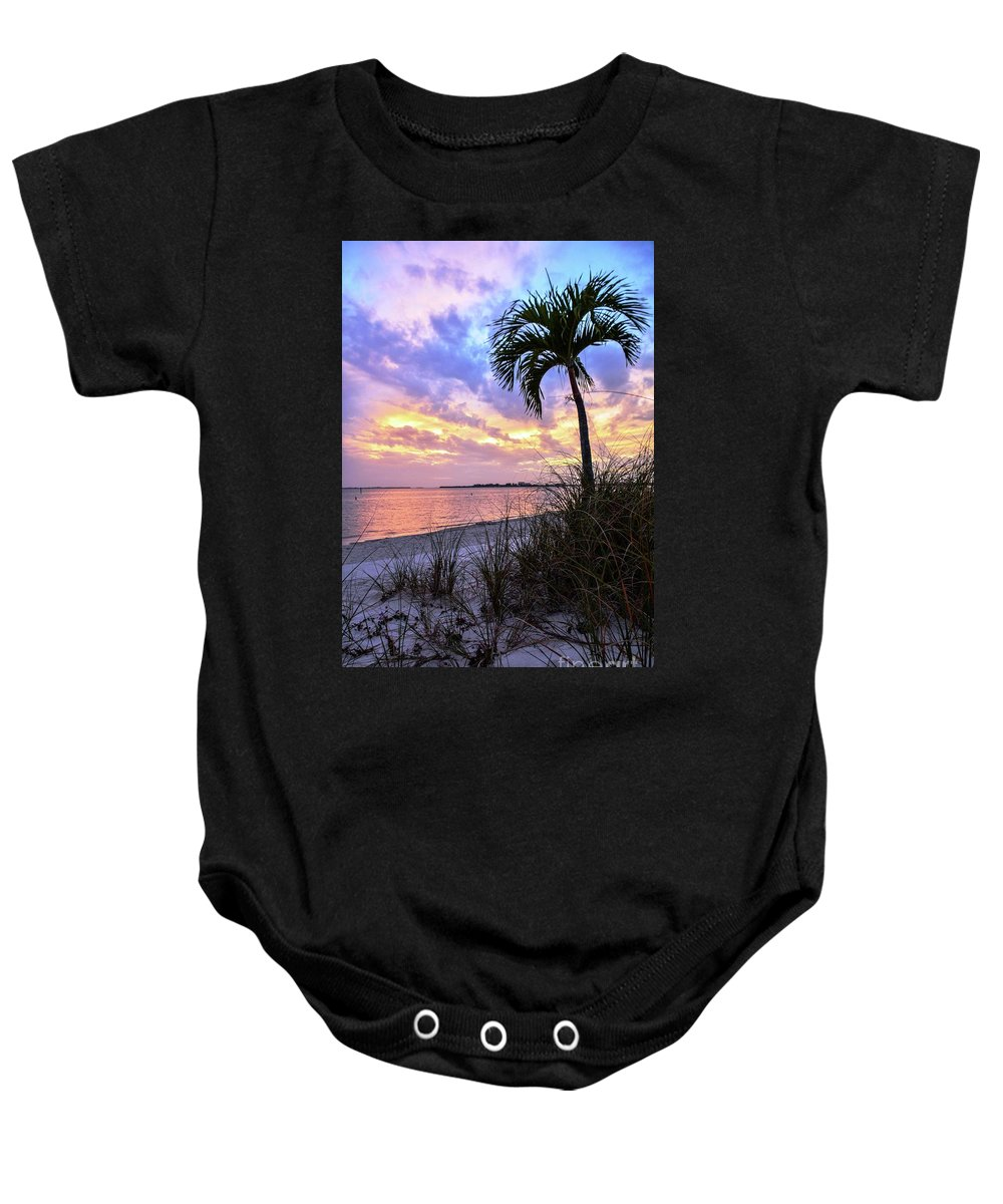 Sunset Baby Onesie featuring the photograph Never-ending Summer by Lisa Kilby