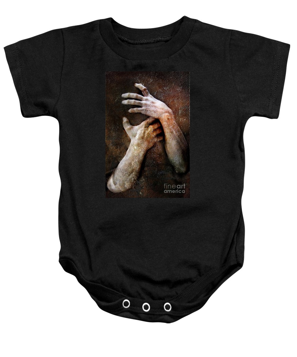 Photodream Baby Onesie featuring the photograph Never Let Go by Jacky Gerritsen