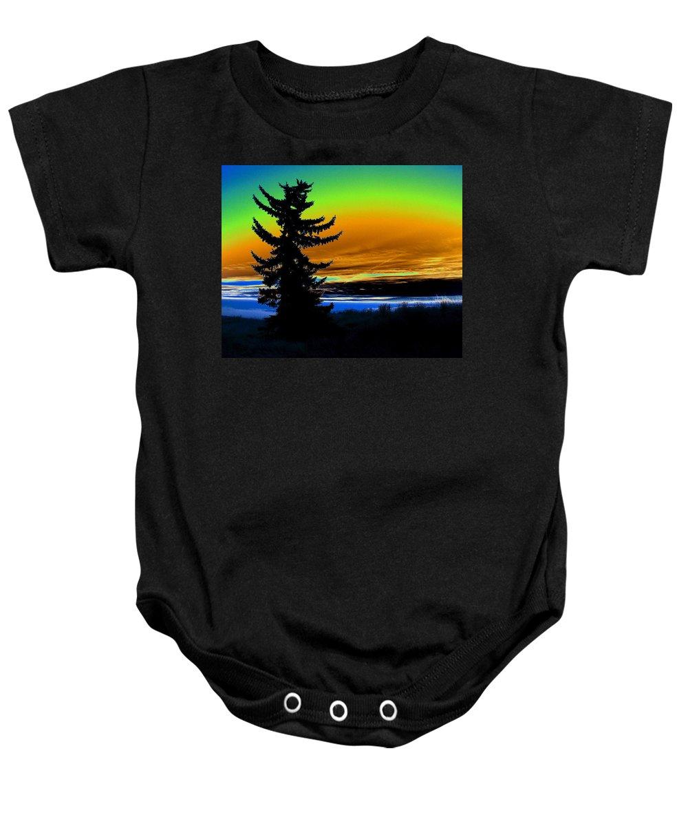 Photo Art Baby Onesie featuring the photograph New Dawn In Spokane by Ben Upham III