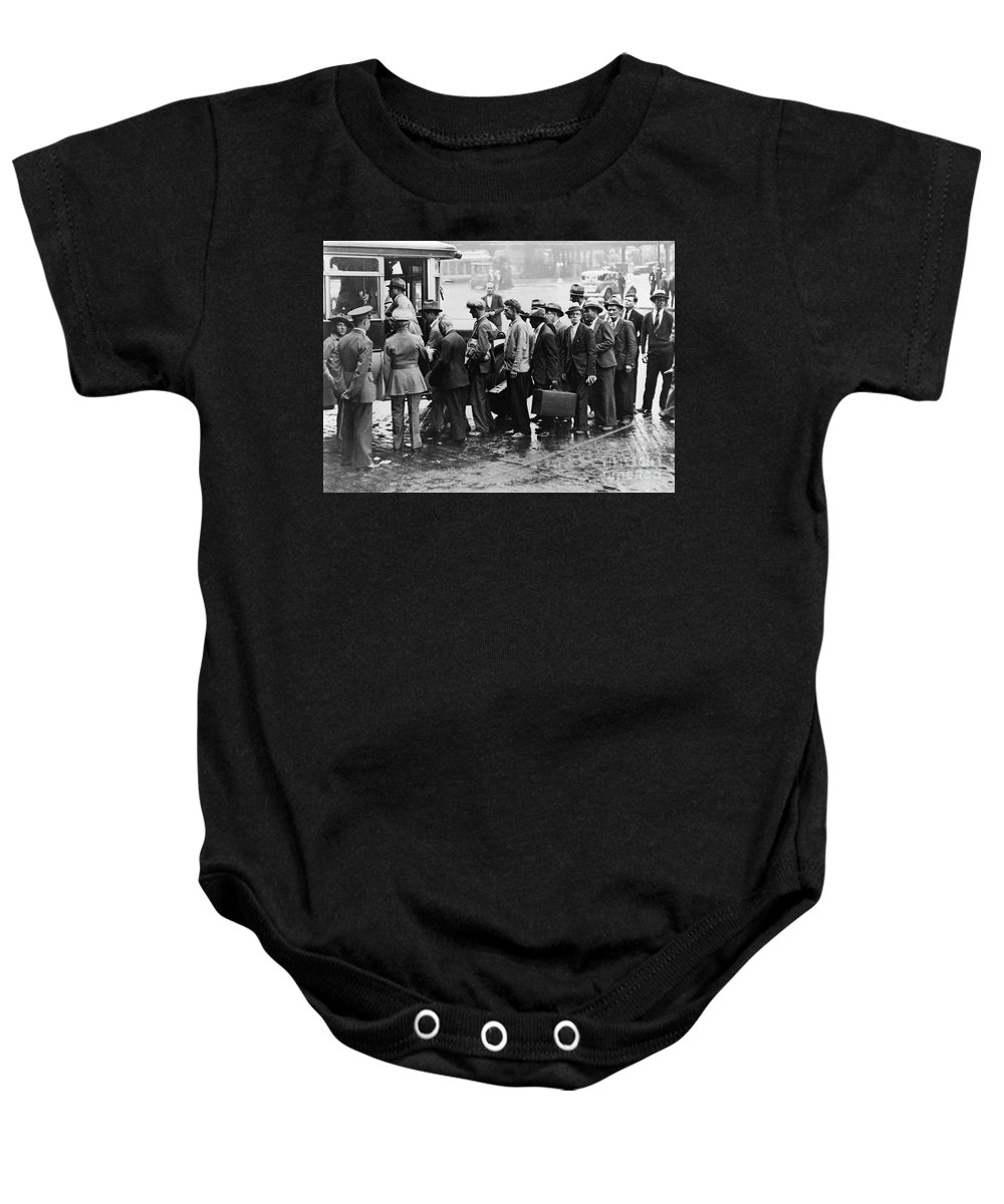 1933 Baby Onesie featuring the photograph New Deal: C.c.c. Camp by Granger