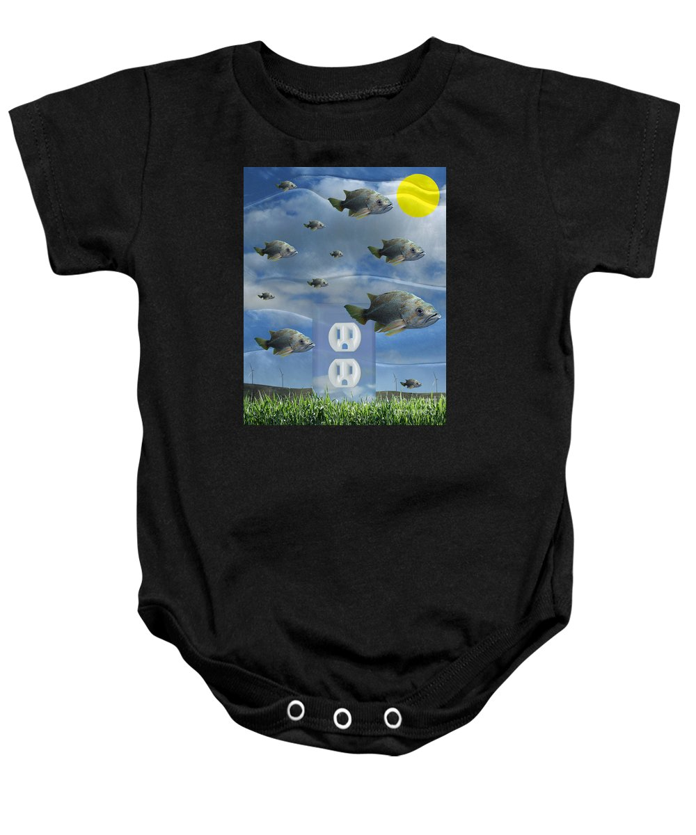 Digital Art Baby Onesie featuring the digital art New Energy by Keith Dillon