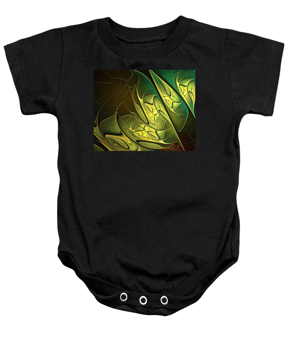 Digital Art Baby Onesie featuring the digital art New Leaves by Amanda Moore