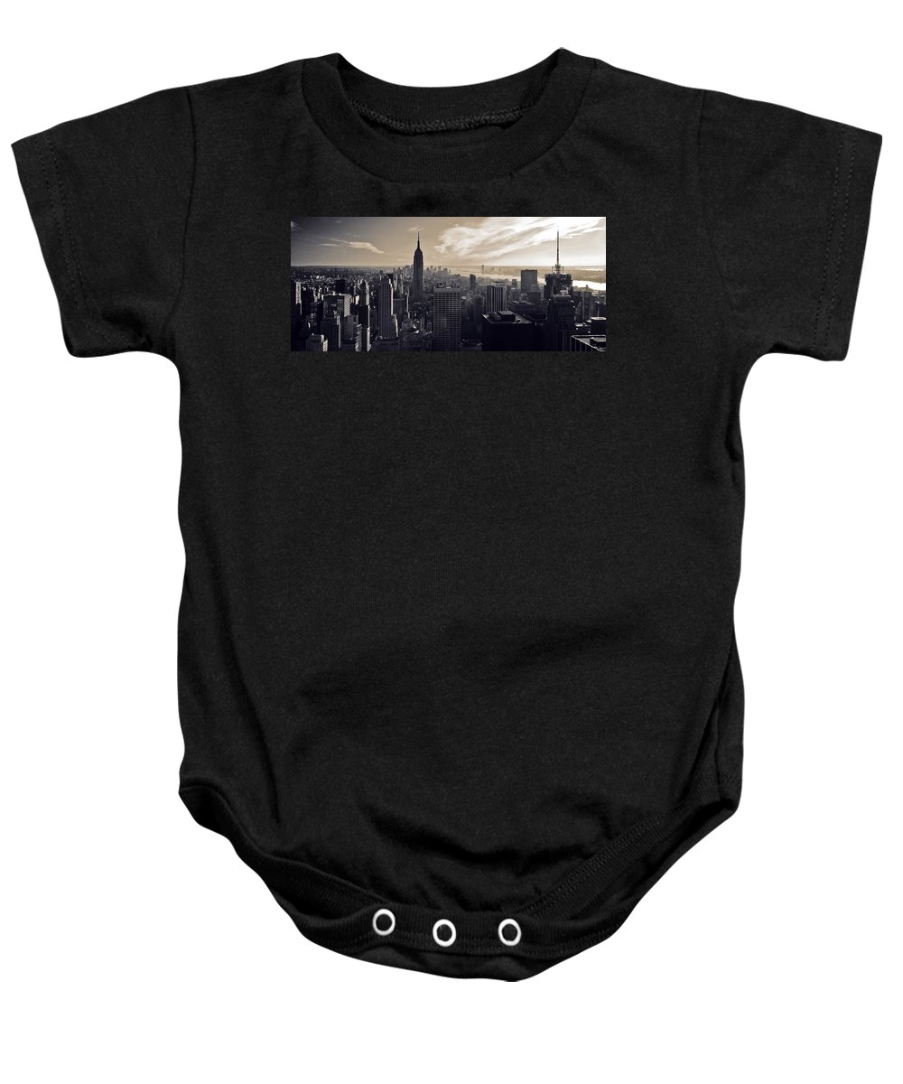 New York Baby Onesie featuring the photograph New York by Dave Bowman