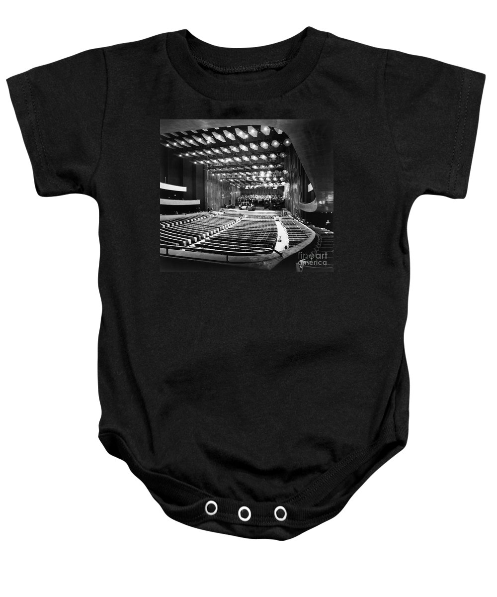 1962 Baby Onesie featuring the photograph New York: Lincoln Center by Granger