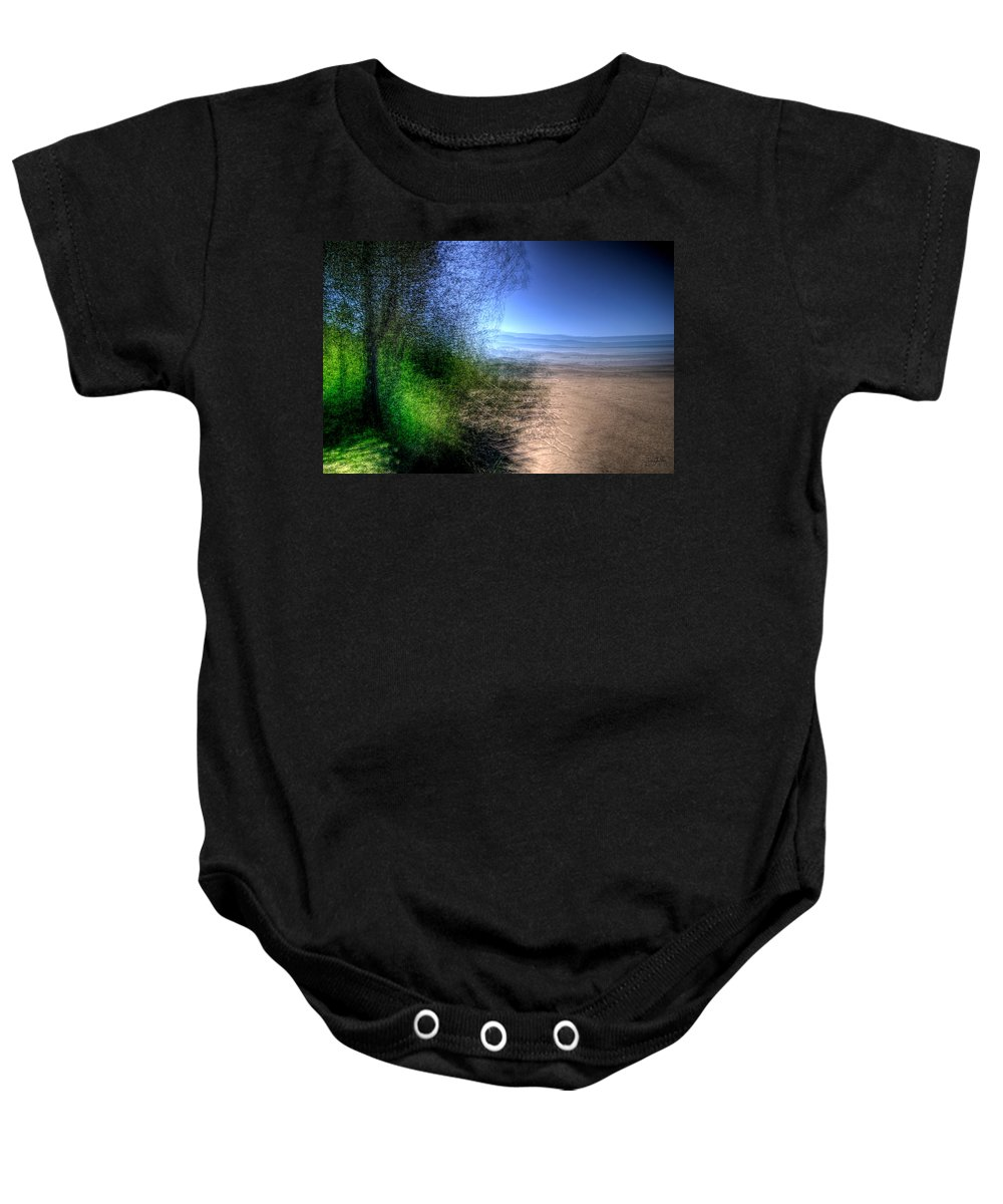 Lake Superior Baby Onesie featuring the photograph Neys Haze by Doug Gibbons