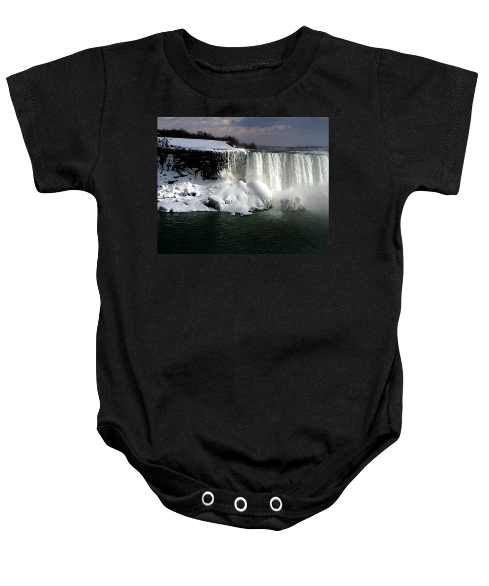 Landscape Baby Onesie featuring the photograph Niagara Falls 6 by Anthony Jones