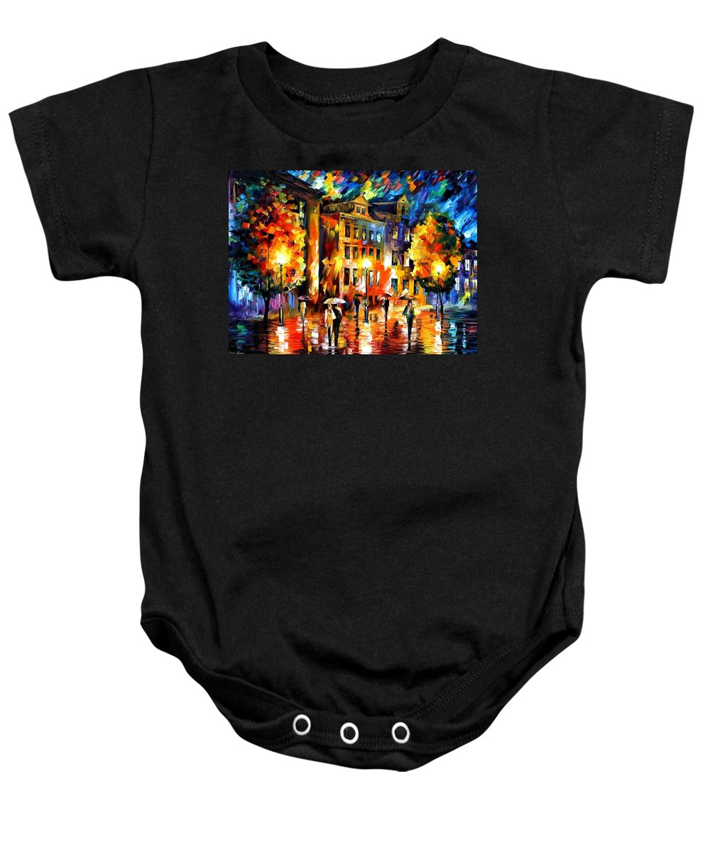 Afremov Baby Onesie featuring the painting Night Enigma by Leonid Afremov
