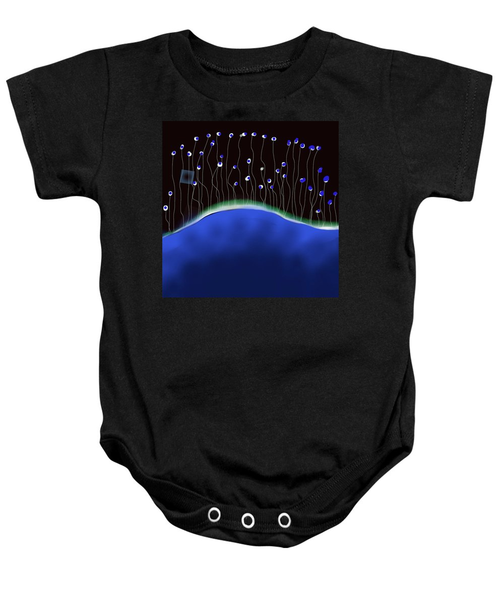 Abstract Baby Onesie featuring the digital art Night Eyes by Anthony Robinson