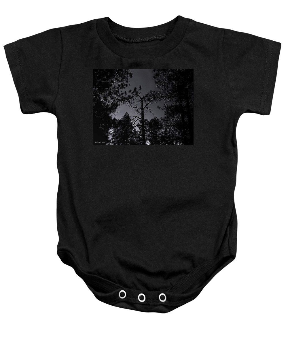 Landscape Baby Onesie featuring the photograph Night In The Druid Cathedral by RC DeWinter