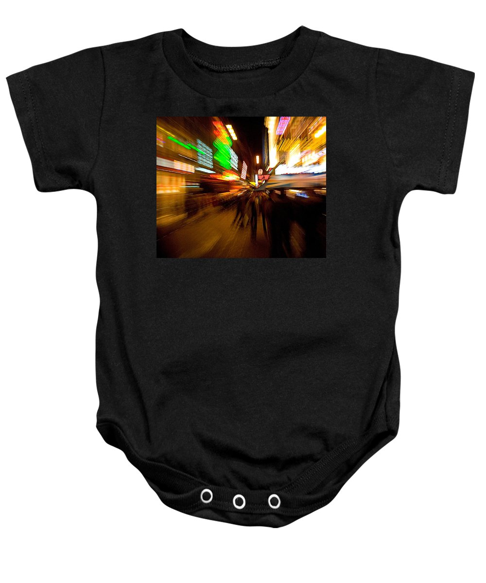 Lights At Night Baby Onesie featuring the photograph Night Life by Paul Eggermann