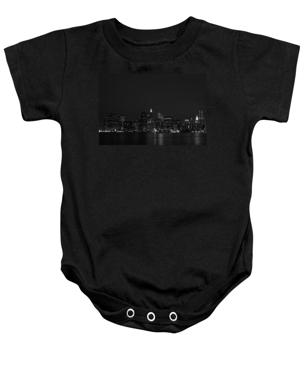 Bridge Baby Onesie featuring the photograph Night Lights by Evelina Kremsdorf