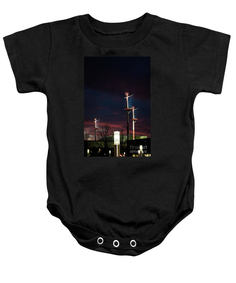 Night Baby Onesie featuring the photograph Night Lights by Photos By Zulma