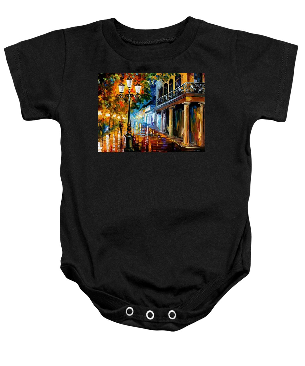 Afremov Baby Onesie featuring the painting Night Transformation by Leonid Afremov