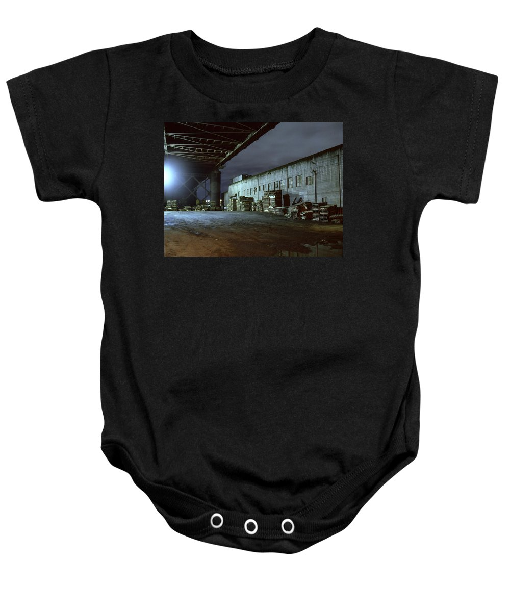 Nightscape Baby Onesie featuring the photograph Nightscape 1 by Lee Santa