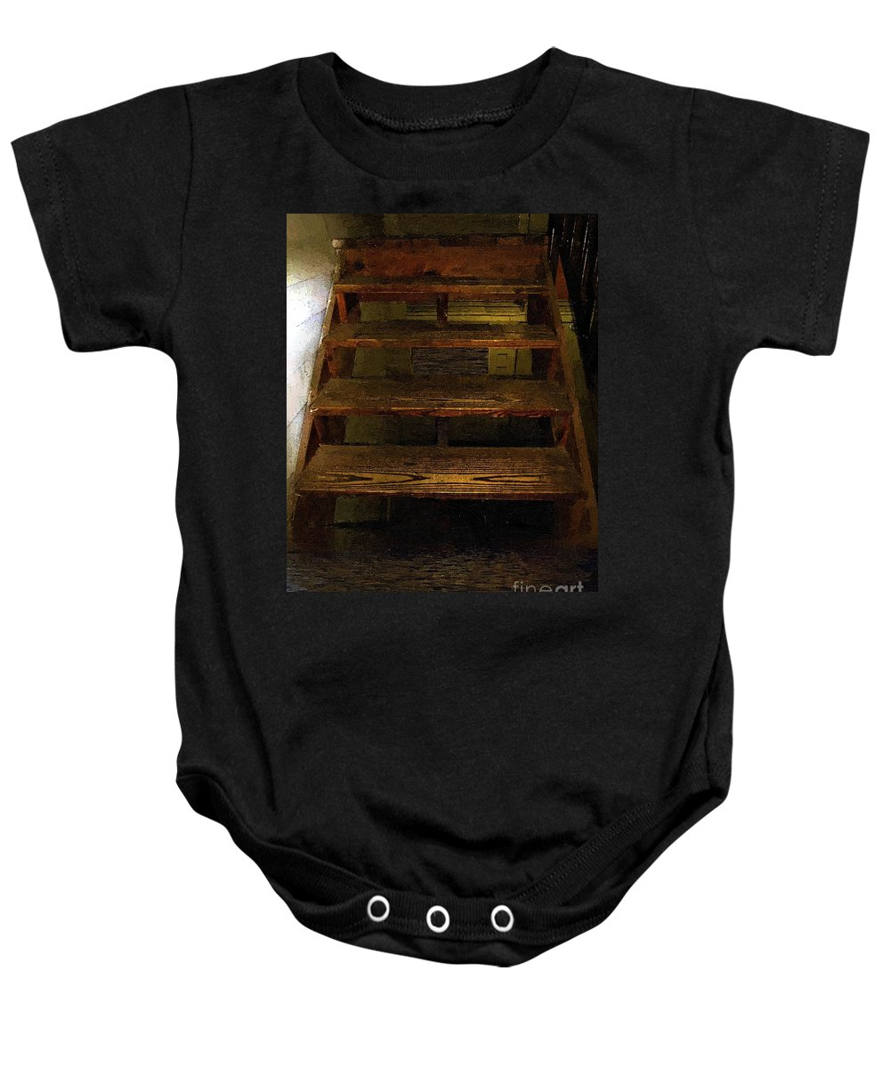 Dark Baby Onesie featuring the painting No Exit by RC DeWinter