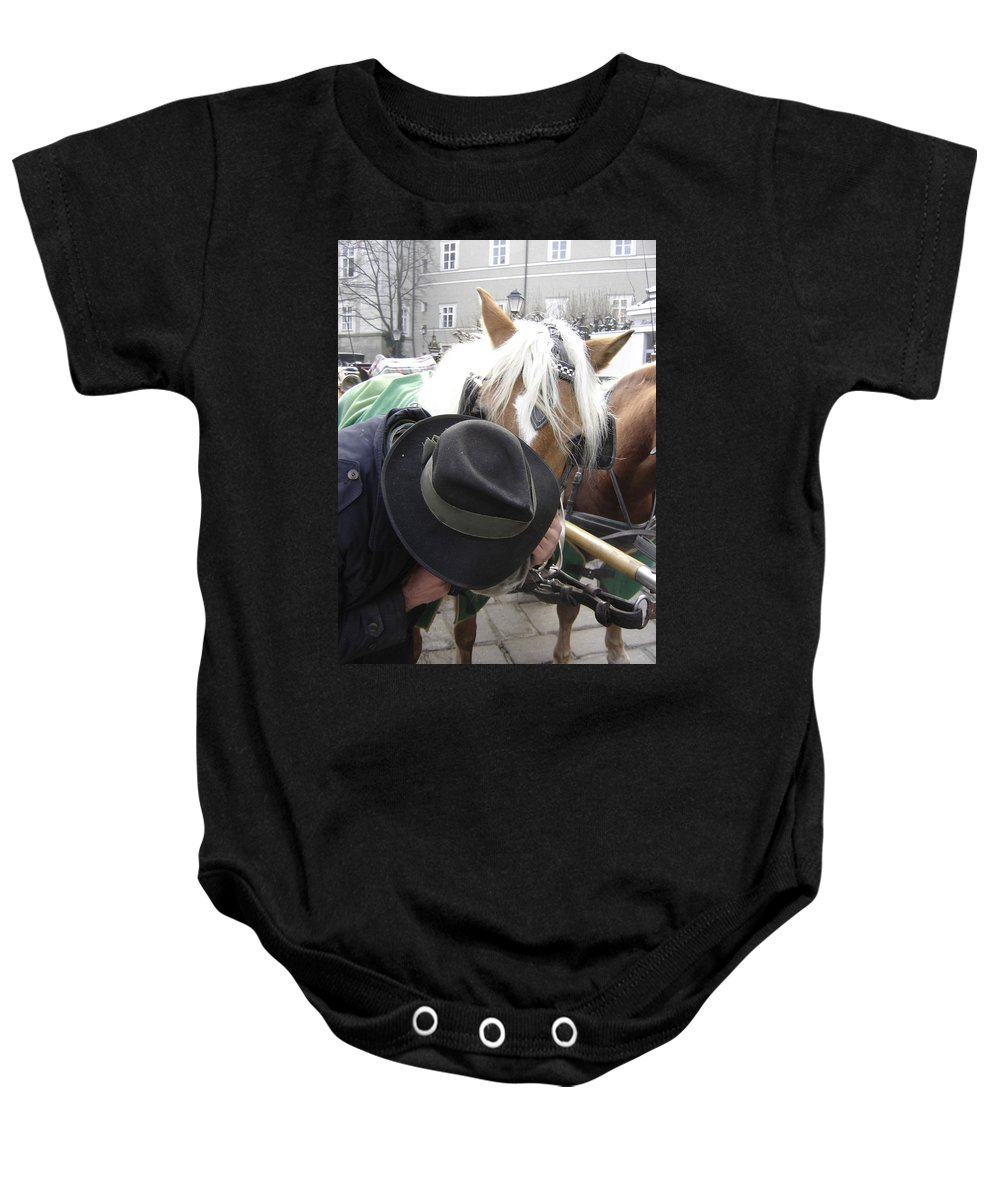 Man Baby Onesie featuring the photograph No Secrets by Mary Rogers