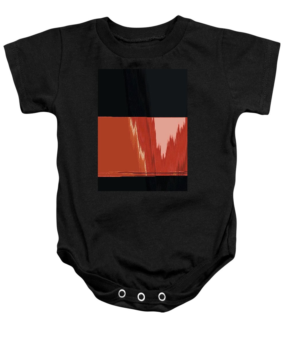 Abstract Baby Onesie featuring the digital art No Simple Life Abstract by Lenore Senior