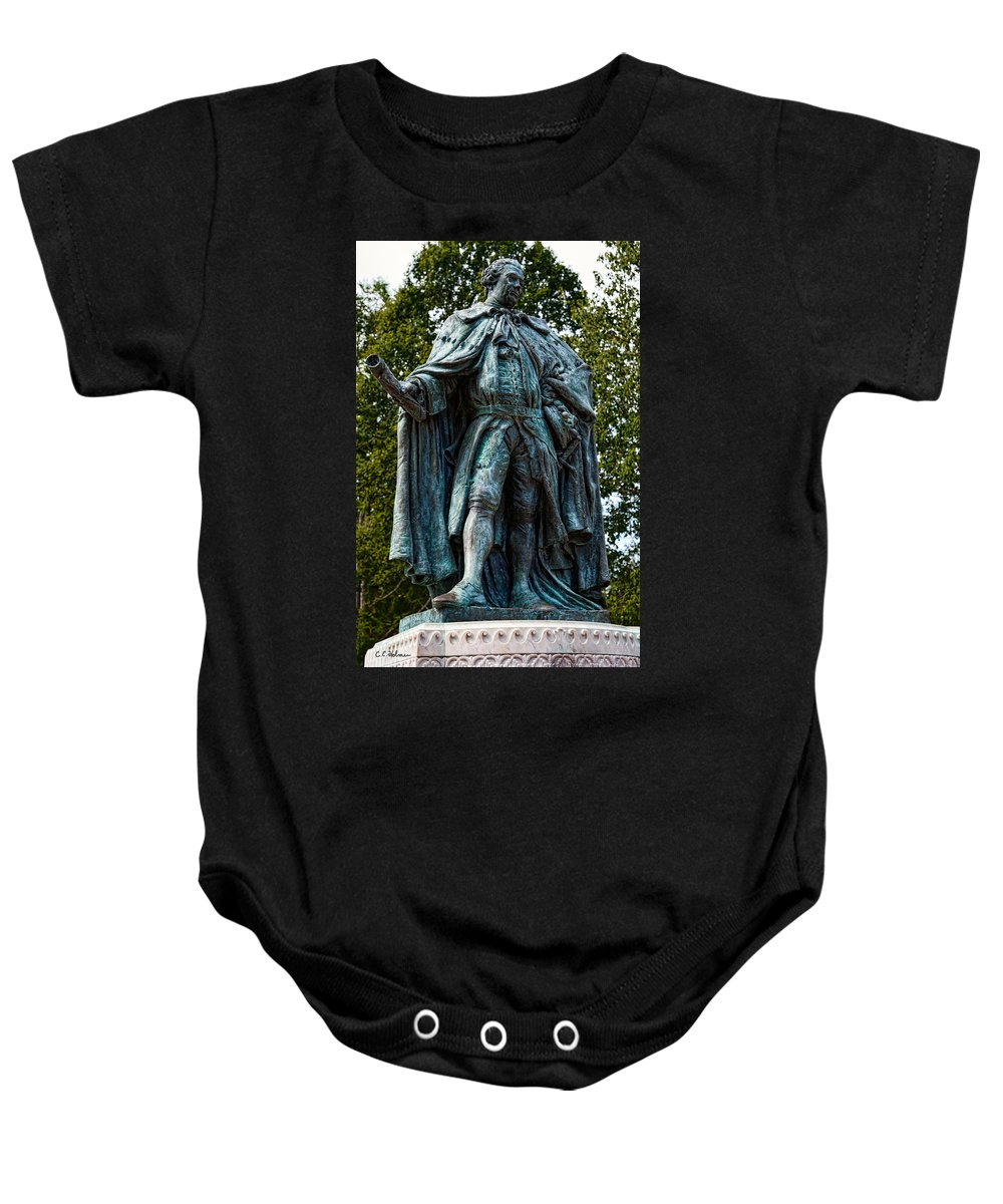 Statue Baby Onesie featuring the photograph Norborne Berkeley - Baron De Botetourt by Christopher Holmes