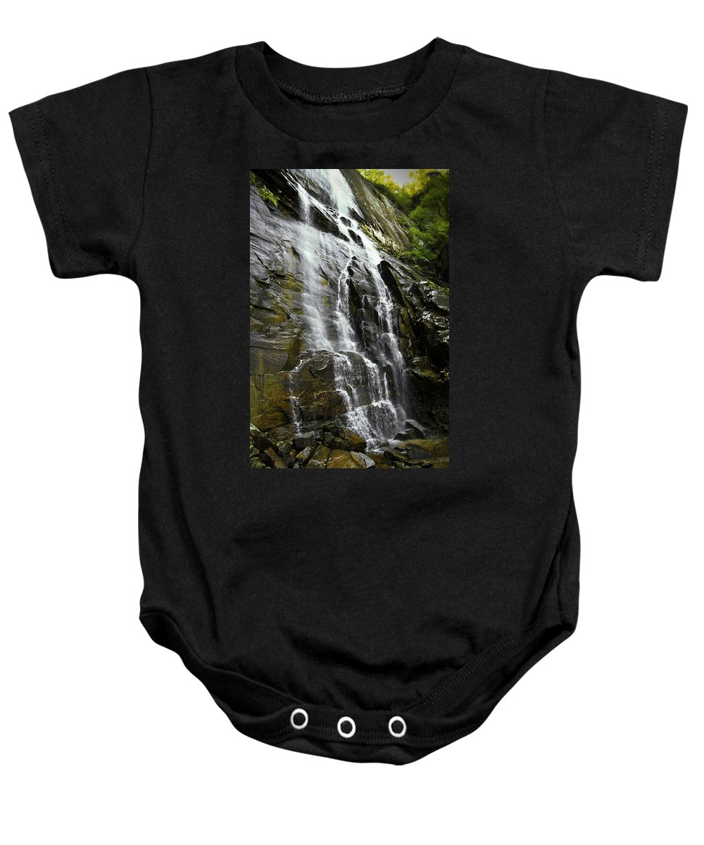 Waterfall Photograph Baby Onesie featuring the photograph North Carolina Waterfall Hickory Nut Falls Photography by Gray Artus