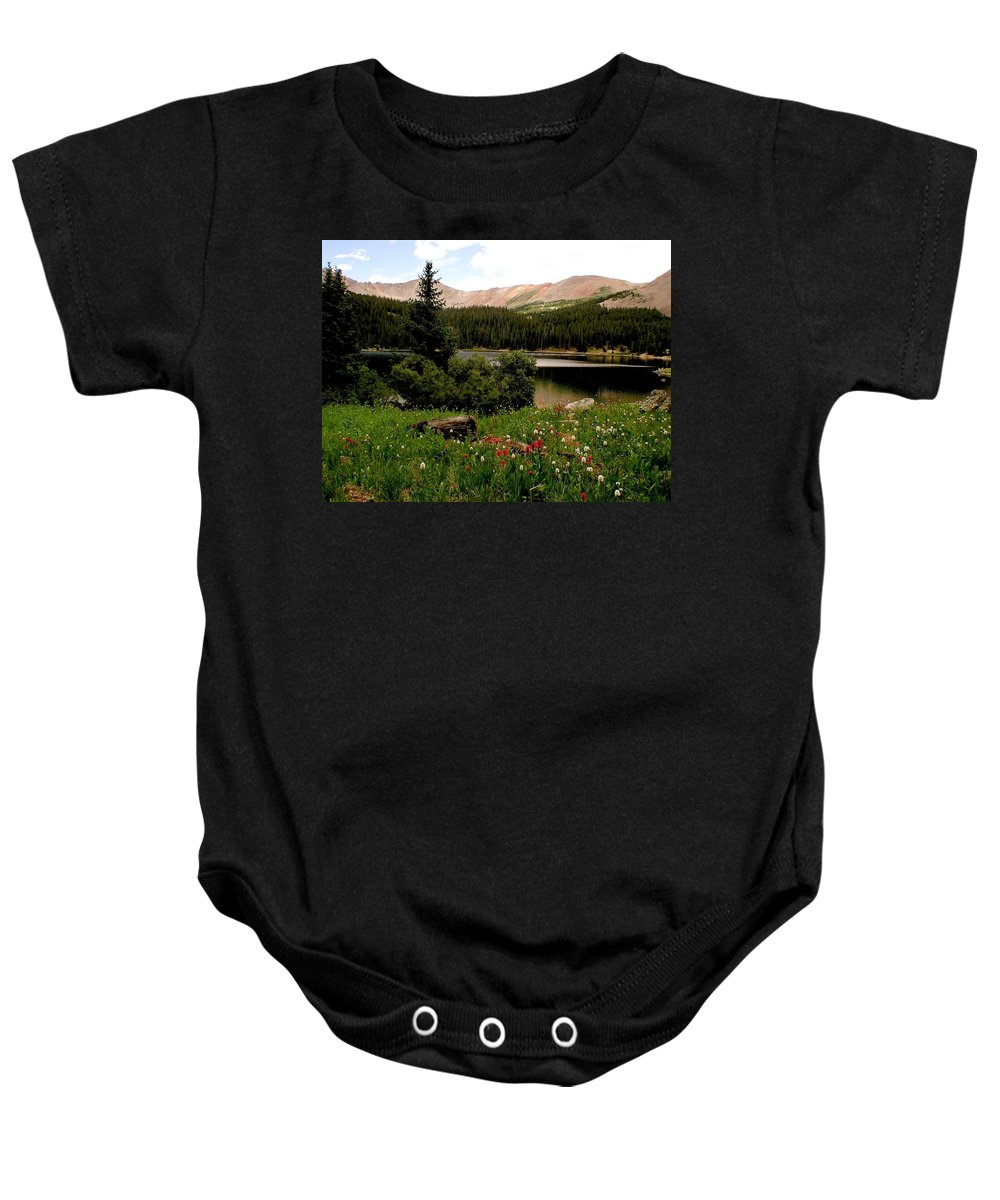 Lake Baby Onesie featuring the photograph North Fork Lake Colorado by Carol Milisen