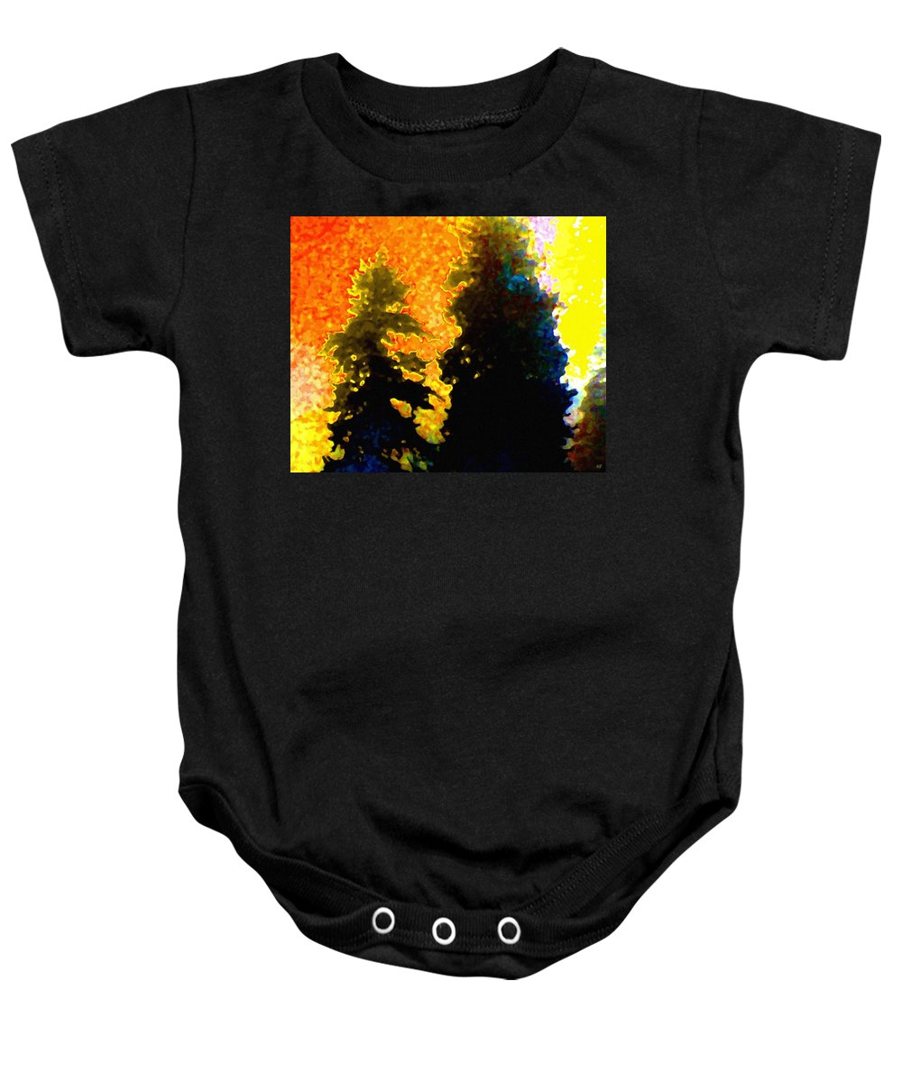 Abstract Baby Onesie featuring the digital art Northern Sunrise by Will Borden