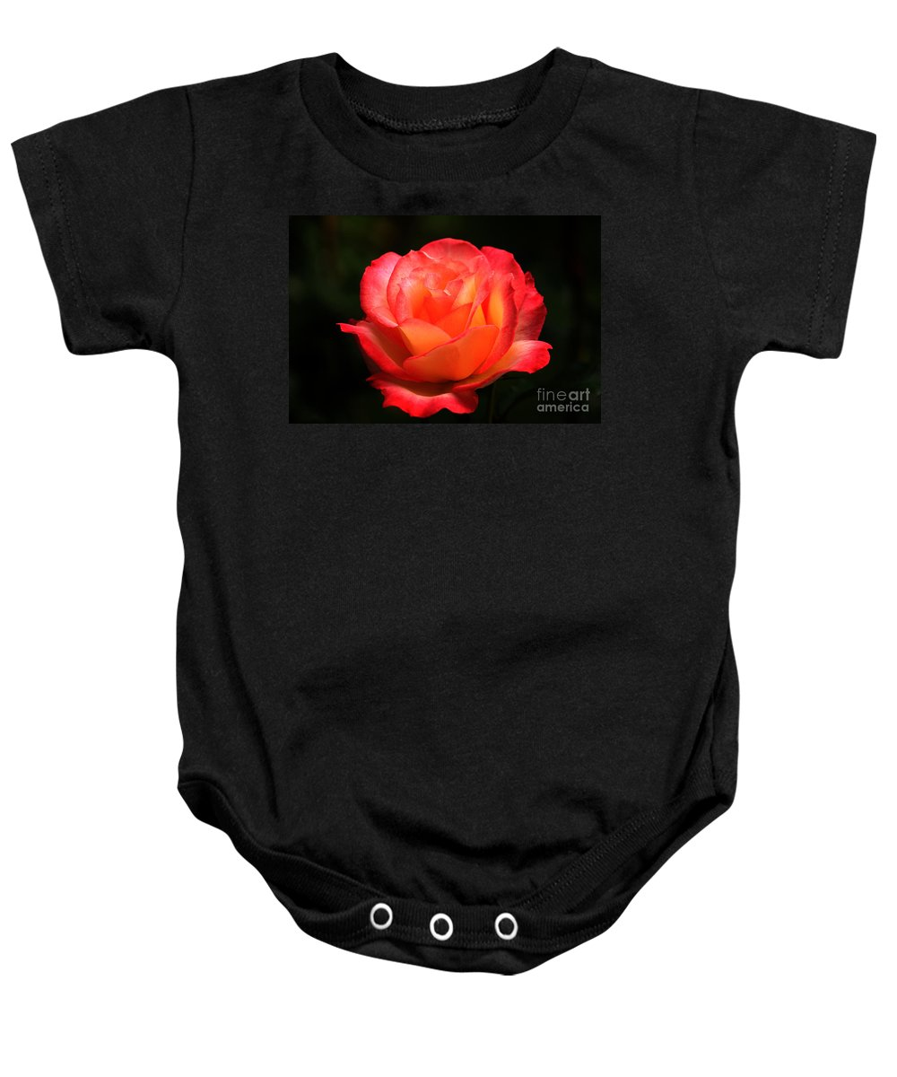 Floral Baby Onesie featuring the photograph Not A Second Hand Rose by James Eddy