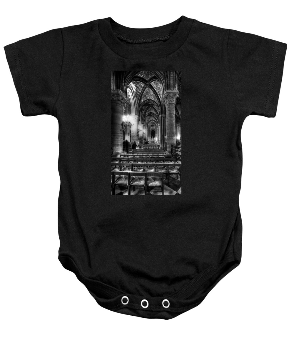 Notre Dame Cathedral Baby Onesie featuring the photograph Notre Dame Cathedral by Charuhas Images