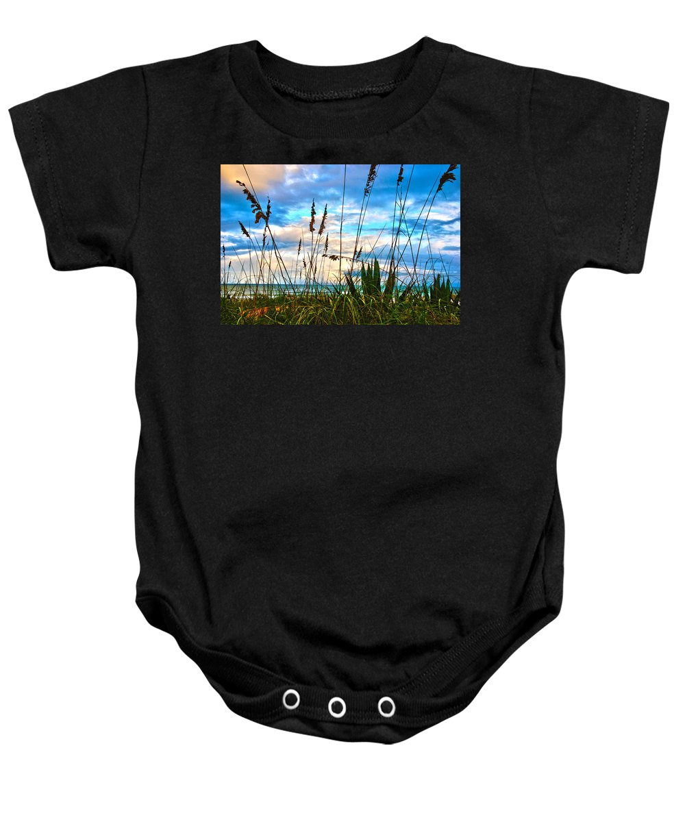 Beach Baby Onesie featuring the photograph November Day at the Beach in Florida by Susanne Van Hulst