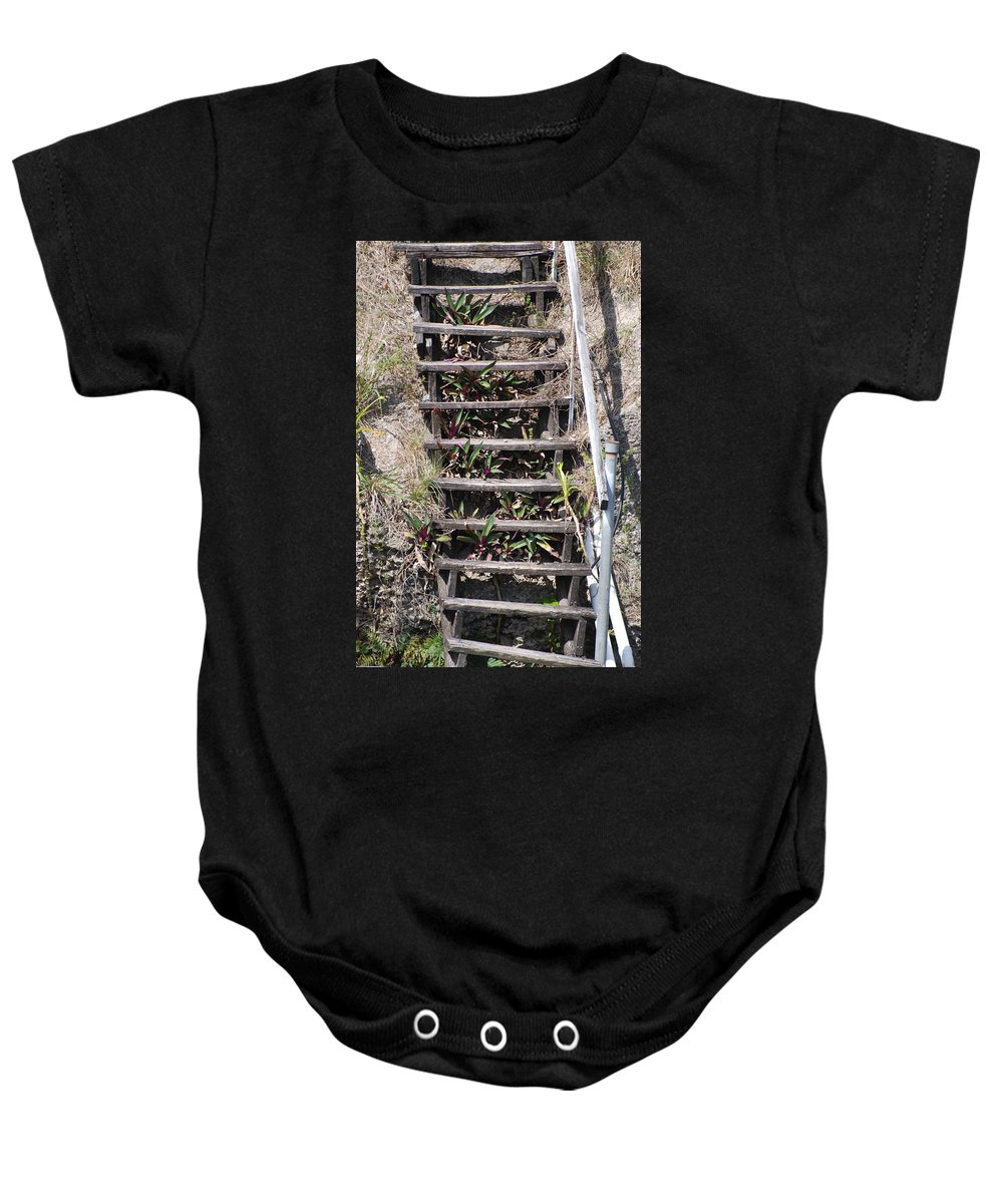 Stairs Baby Onesie featuring the photograph Nowhere Stairs by Rob Hans