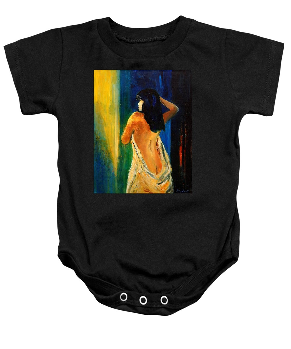 Girl Baby Onesie featuring the painting Nude 459070 by Pol Ledent