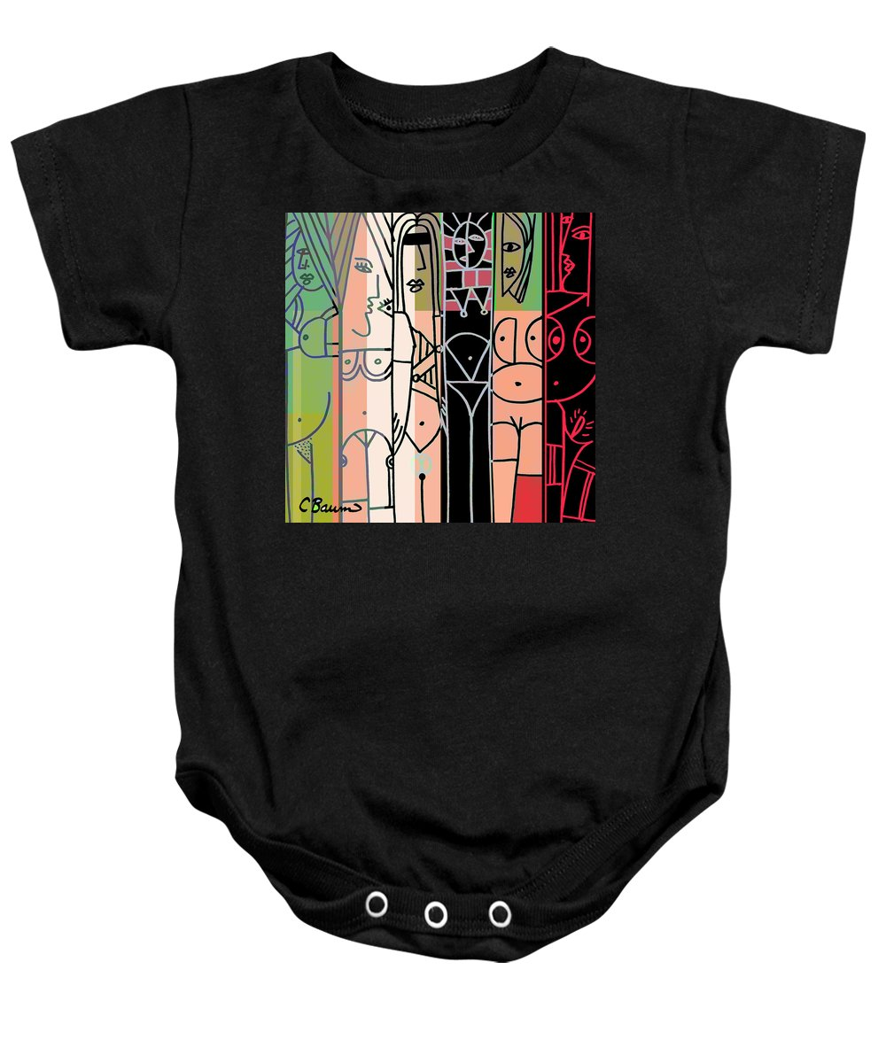 Woman Baby Onesie featuring the painting Sexy Path 2 by C Baum