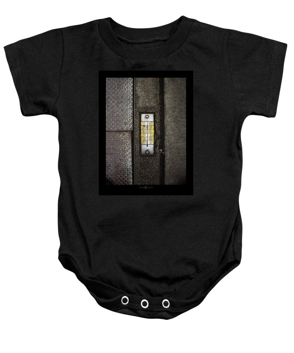 Numbers Baby Onesie featuring the photograph Numbers On The Sidewalk by Tim Nyberg