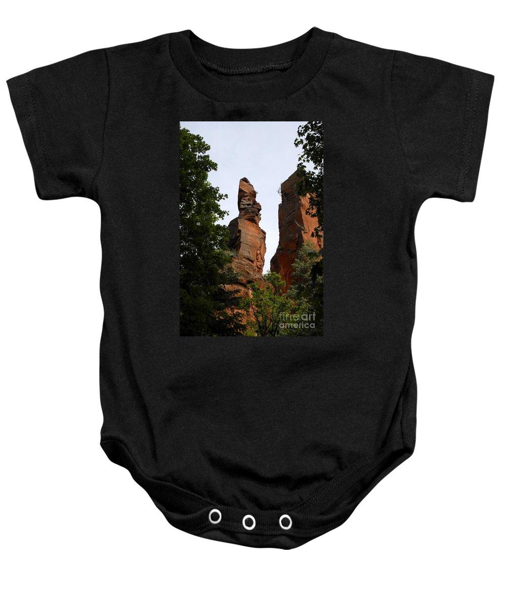 Oak Creek Canyon Arizona Baby Onesie featuring the photograph Oak Creek Canyon by David Lee Thompson