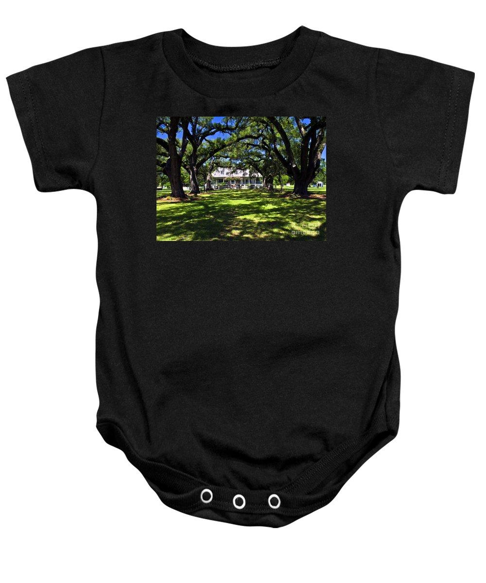 Oakland Plantation Baby Onesie featuring the photograph Oakland Plantation One by Ken Frischkorn