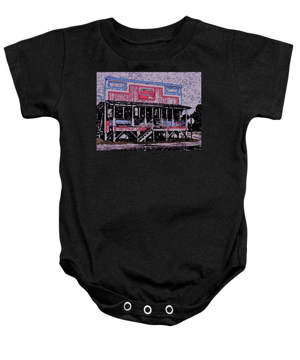Retail Baby Onesie featuring the photograph Ocracoke Island Shop by Wayne Potrafka
