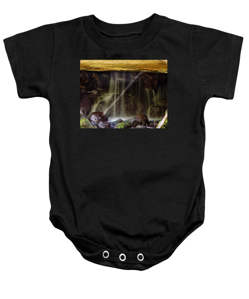 Water Trickle Baby Onesie featuring the photograph Of Light And Mist by Peter Piatt