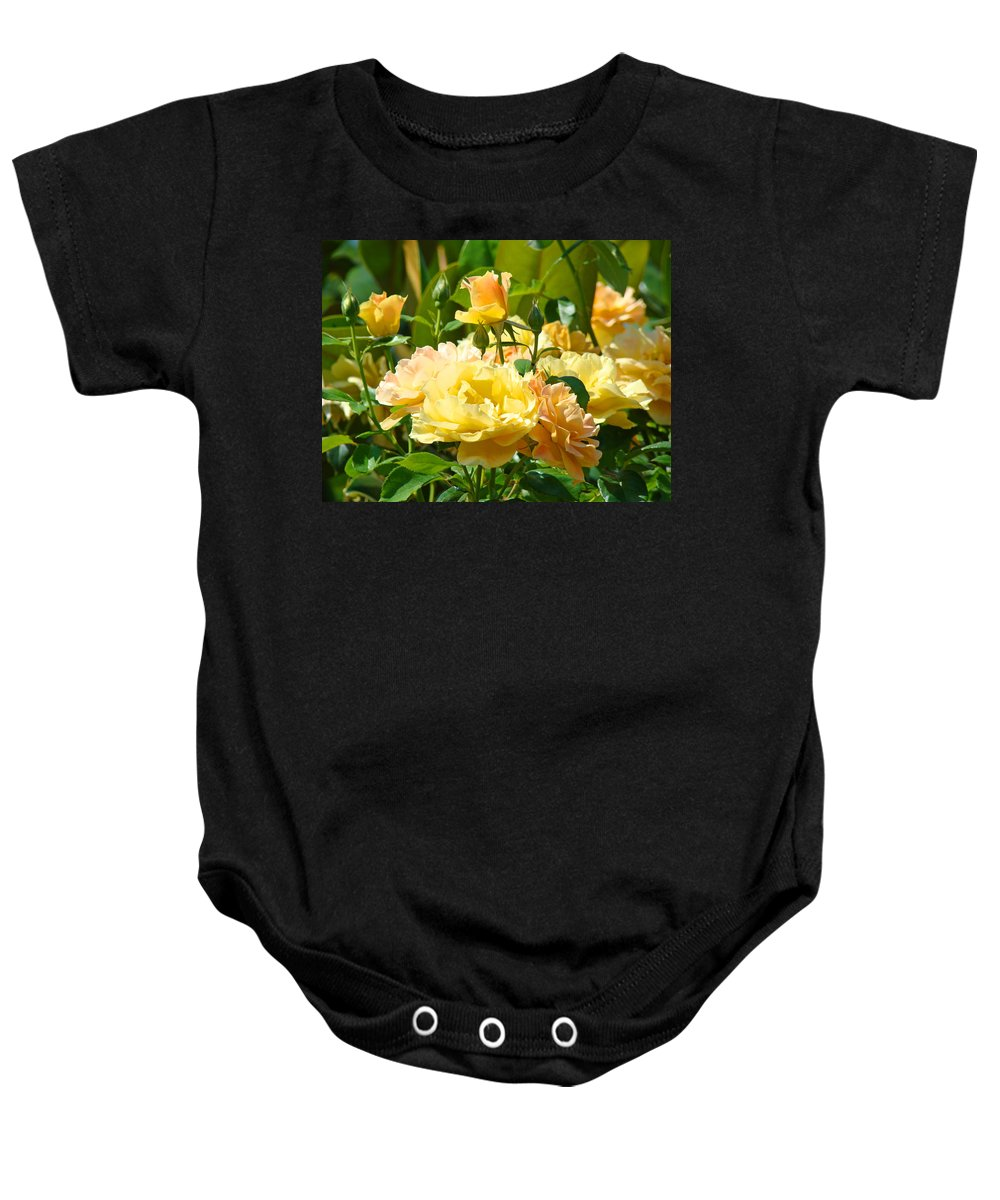 Rose Baby Onesie featuring the photograph Office Art Rose Garden Giclee Prints Roses Baslee Troutman by Baslee Troutman
