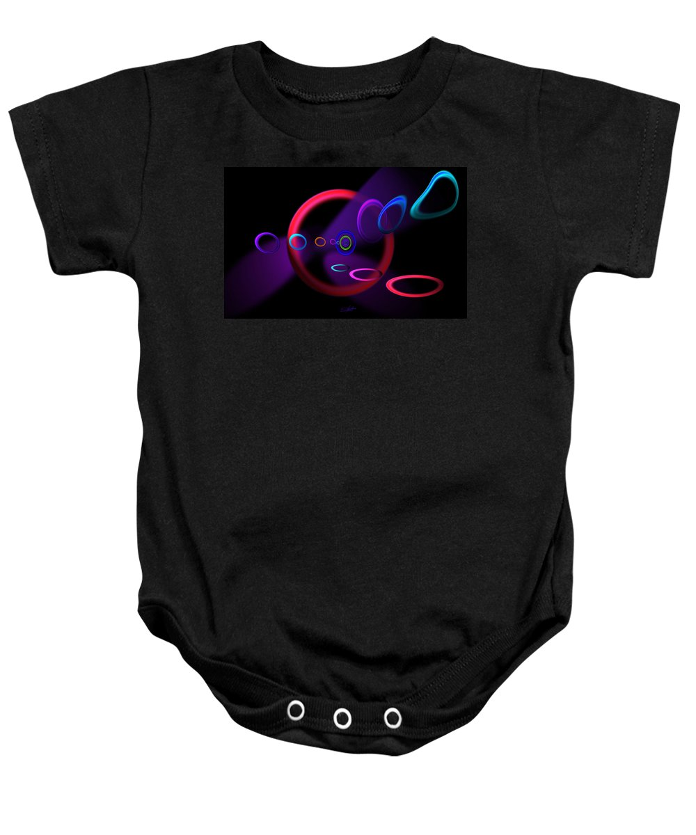 Abstract Baby Onesie featuring the painting Ohhhhhhhhhh by Charles Stuart