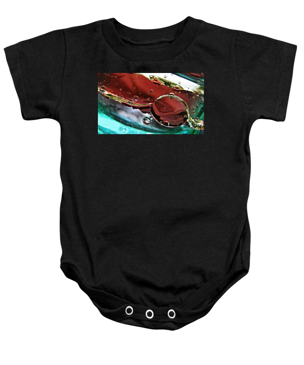 Bubbles Baby Onesie featuring the photograph Oil And Water 23 by Sarah Loft
