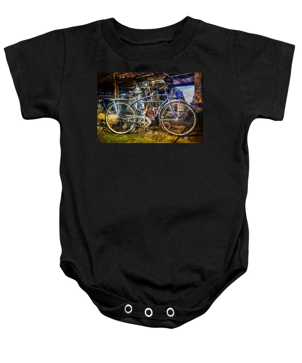 Appalachia Baby Onesie featuring the photograph Old Blue by Debra and Dave Vanderlaan