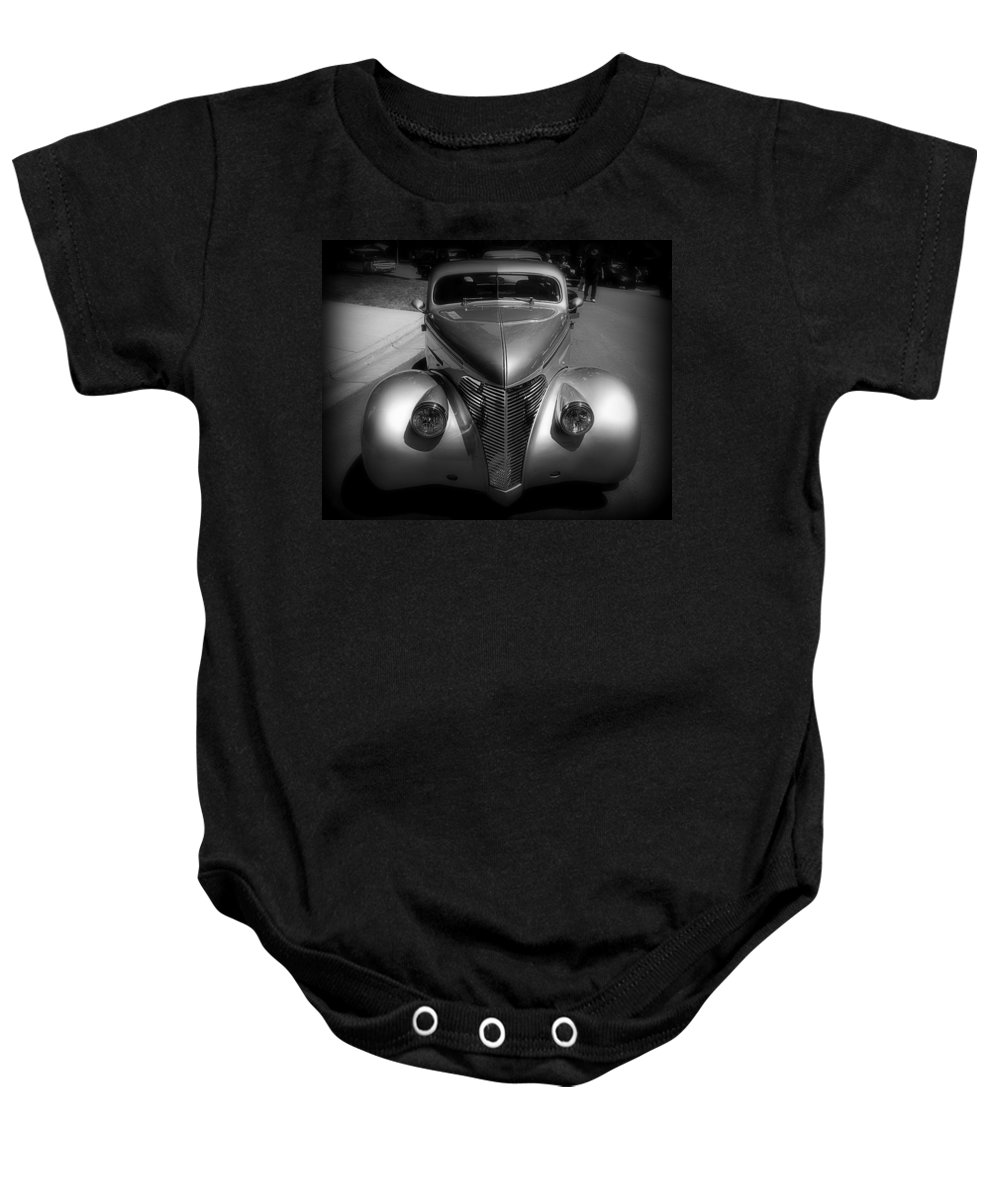 Old Baby Onesie featuring the photograph Old Calssic Car by Perry Webster