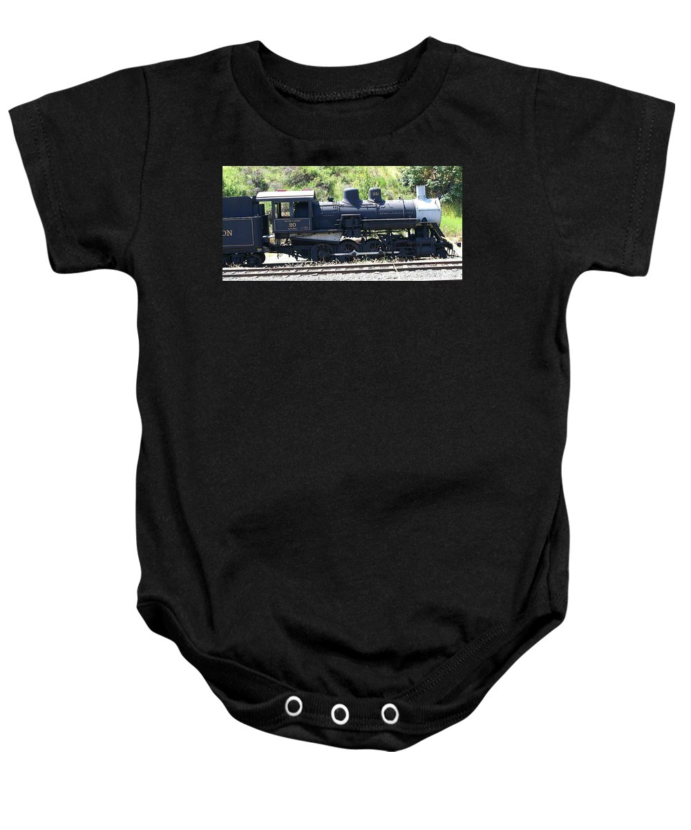 Trains Baby Onesie featuring the photograph Old Choo Choo by Jeff Swan