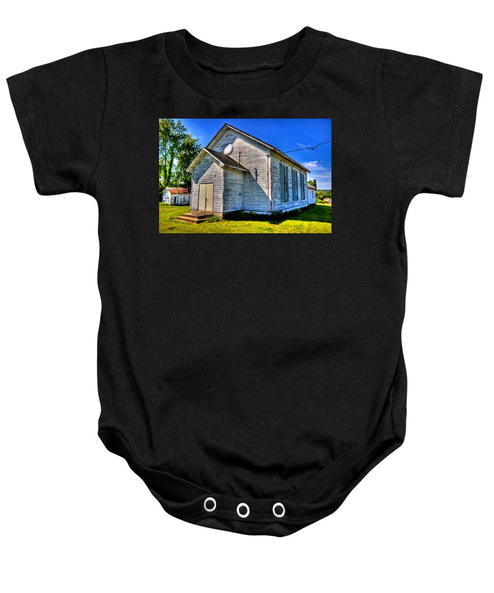 Church Baby Onesie featuring the photograph Old Country Church by Jonny D