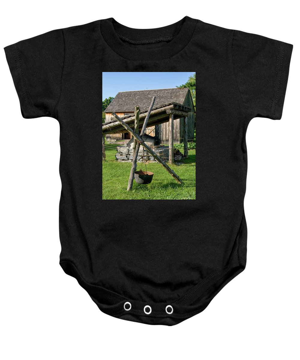 Vintage Baby Onesie featuring the photograph Old Fashioned Cooking by Patricia Hofmeester