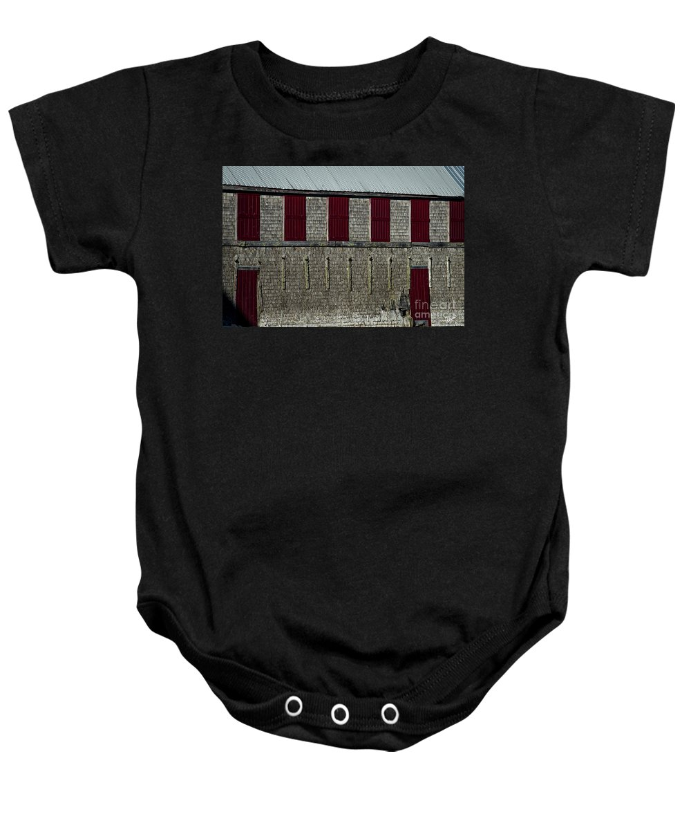 Dwoneast Baby Onesie featuring the photograph Old Fish House by Alana Ranney