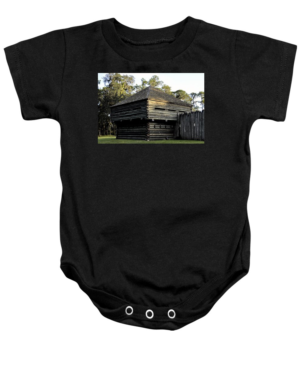 Fort Foster Baby Onesie featuring the painting Old Fort Foster by David Lee Thompson
