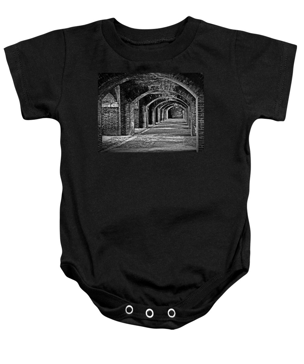 Fort Baby Onesie featuring the photograph Old Fort by Perry Webster