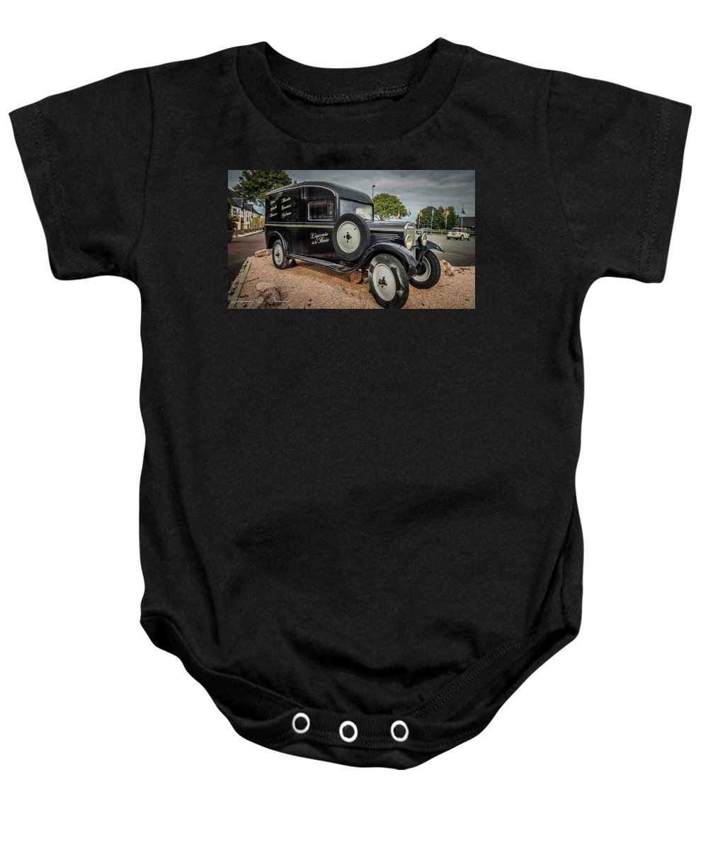 Baby Onesie featuring the photograph Old French Truck by Jason Steele