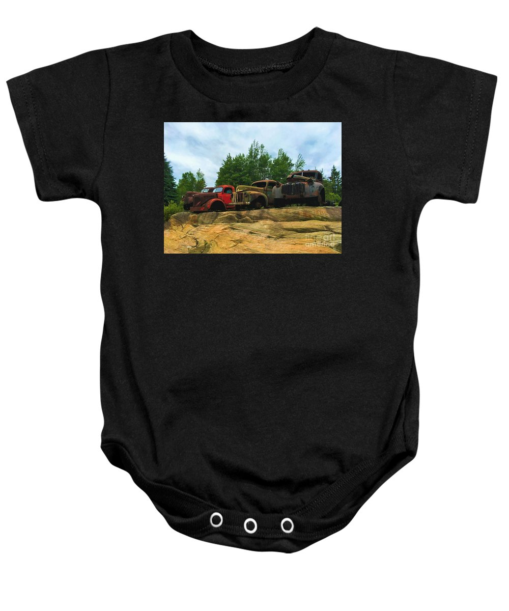 Photography Baby Onesie featuring the photograph Old Friends Meet by Anthony Djordjevic